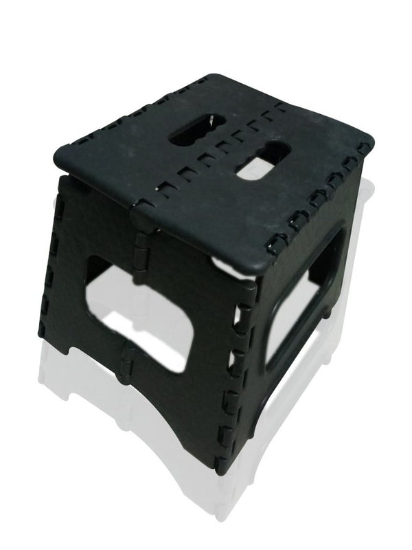 Folding Lightweight Plastic Stool (Black) - H00813