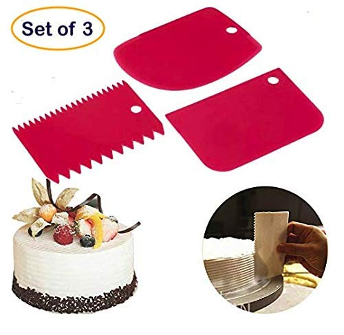 3 Pcs Set Plastic Cake Scraper Cutter Smoother - H00829