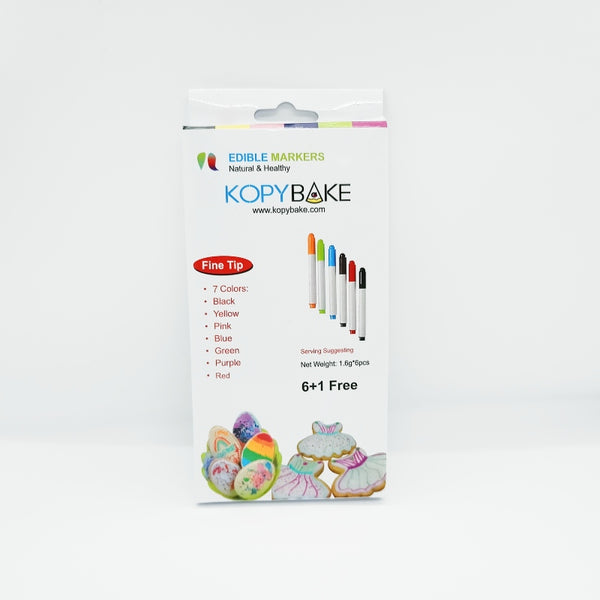 KOPYBAKE EDIBLE MARKER SET OF 7 PIECES - H00871
