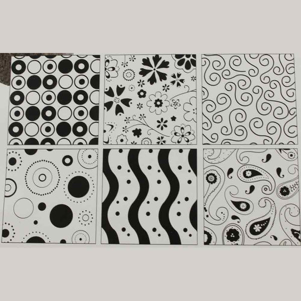 PLASTIC IMPRESSION MAT – SET OF 6 DESIGNS (B) - H00873