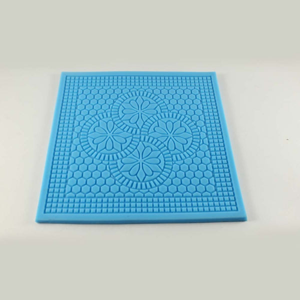 SILICONE IMPRESSION MAT – FLOWER SQUARE SHAPED - H00876