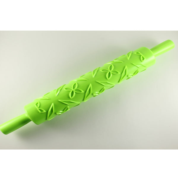 ROLLING PIN – FLOWER AND LEAF - H00883