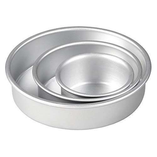 ALUMINIUM CAKE TIN ROUND SHAPE – SET OF 3 - H00911