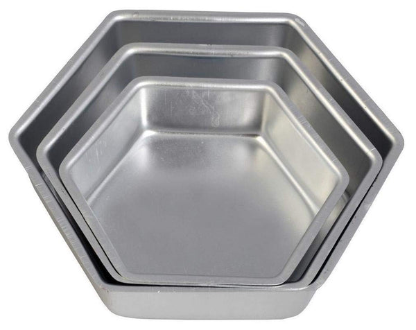 ALUMINIUM CAKE TIN – HEXAGON - H00927