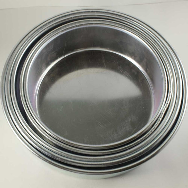 ALUMINIUM CAKE TIN ROUND SHAPE – SET OF 5 - H00932