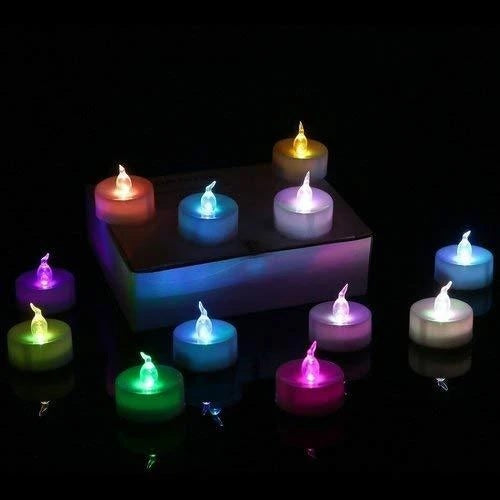 Festival Decorative - LED Tealight Candles (Multi, 24 Pcs) - H01030
