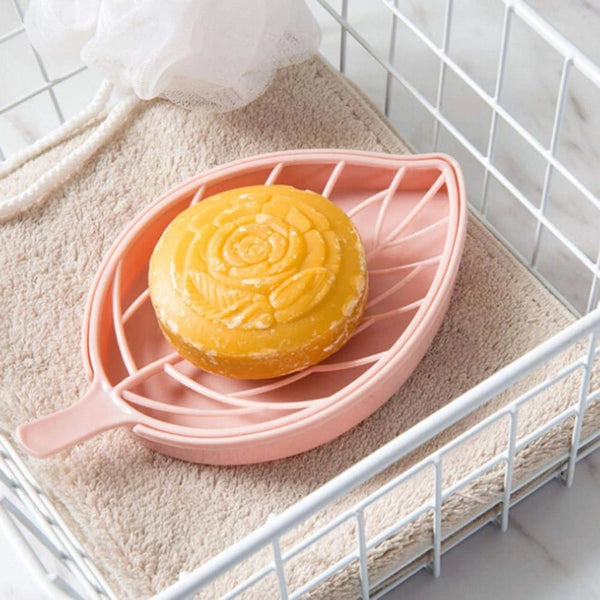 3 Pcs - Leaf Shape Dish Soap Holder for Kitchen and Bathroom (Random Color) - H01049