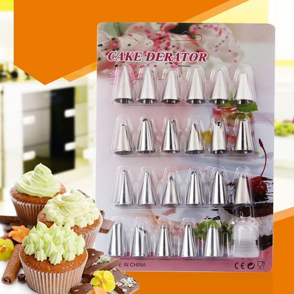 24 Pcs/Set Stainless Steel Icing Piping Nozzle Set - H01094