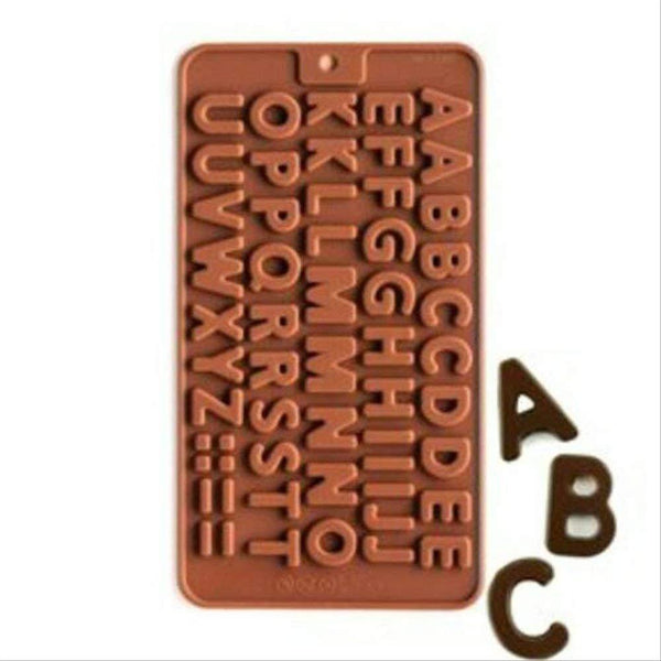 2 Pcs - Alphabets Birthday Silicone Chocolate Mould - H01150