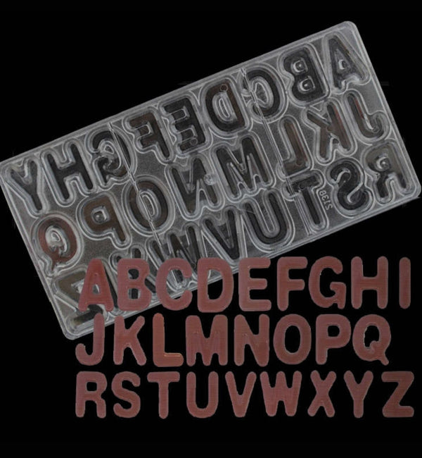 ALPHABETS POLYCARBONATE CHOCOLATE MOULD – H01149