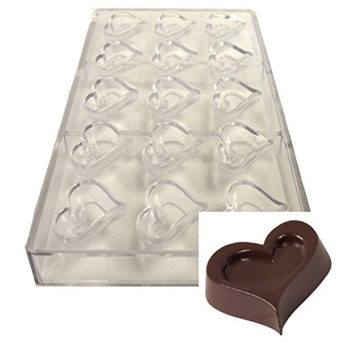 POLYCARBONATE CHOCOLATE MOULD - HEART SHAPE - H01153