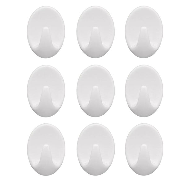 18 Pcs Self Adhesive Plastic Wall Hook Set for Home Kitchen and Other Places  - H01191