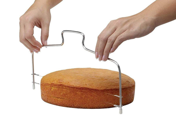 1 Pc Adjustable Bread Cake Stainless Steel Slicer Cutter Pizza Dough Leveler (34*17cm) - H01204