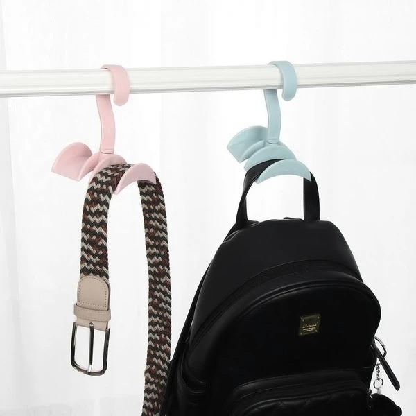2 Pcs - Rotating Handbag Hanger Rack Closet Storage Organizer Hooks for Ladies Bag Belt Tie Scarf - H01262