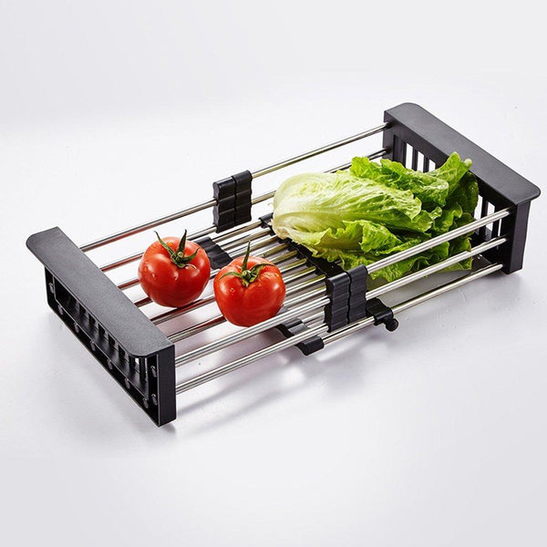Stainless Steel Expandable Kitchen Sink Dish Drainer - H01263