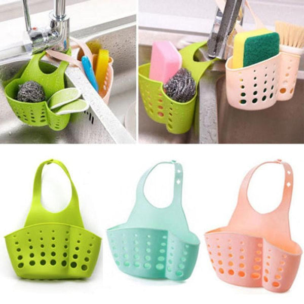 Kitchen Bathroom Sponge Hanging Plastic Holder (Pack of 2) - H01280