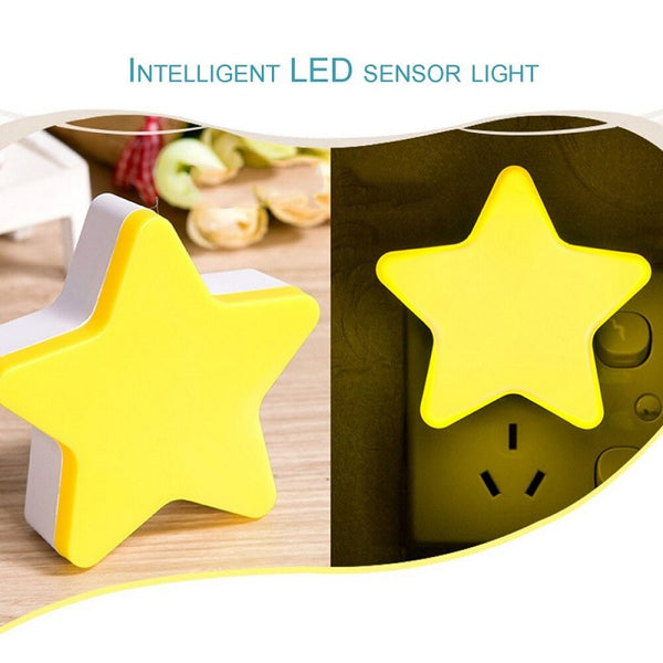 Star Shape Plug In LED Night Light With Sensor - H01311