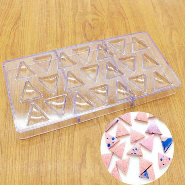 POLYCARBONATE CHOCOLATE MOULD - TRIANGLE SHAPE - H01324
