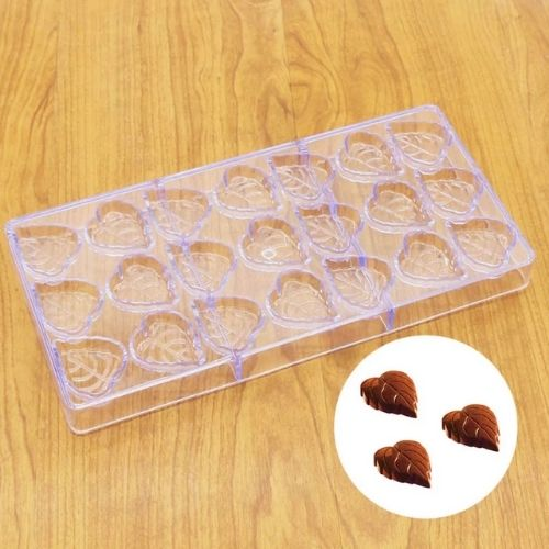 LEAF SHAPE POLYCARBONATE CHOCOLATE MOULD - H01328