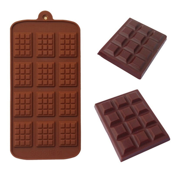 Pack of 2 - SMALL 12 Cavity Dairy Milk Shape Chocolate Mould - H01329