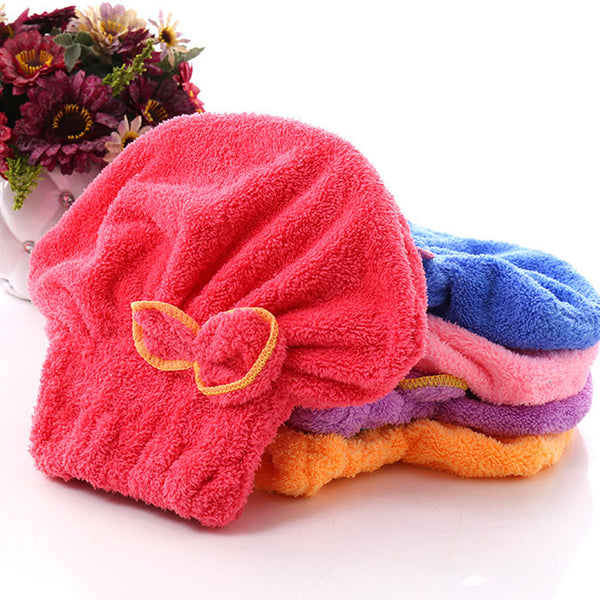 1 Pc Bow Hair Towel (Random Color) - H01332