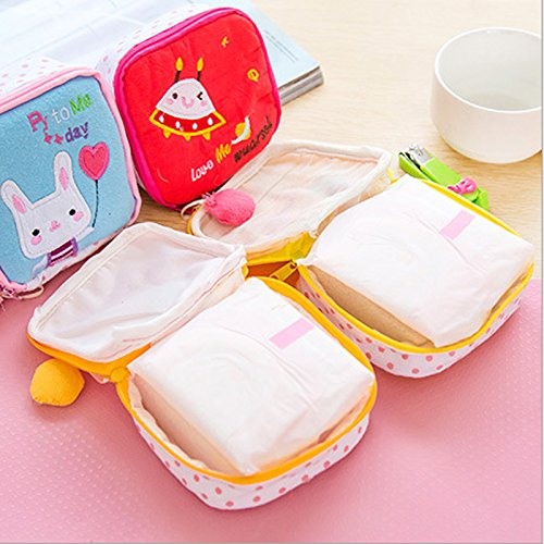 Sanitary Napkin Bag Purse Type ( Random Print ) - H01336