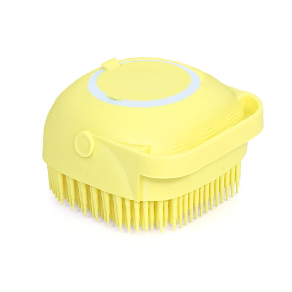 Silicone Massage Bath Body Brush Soft Bristle With Shampoo Dispenser - H01349