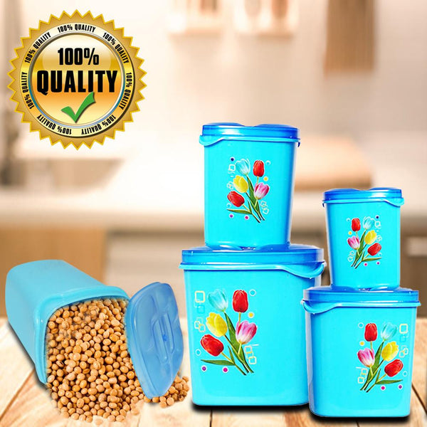 Container Set For Kitchen Storage Airtight & Food Grade Plastic (Pack of 4) - H01351