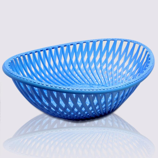 2 Pcs - Multipurpose Plastic Oval Shape Storage Basket - H01355