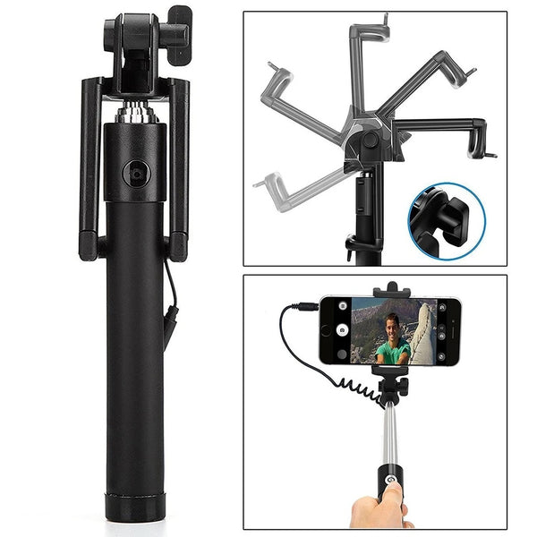 Selfie Sticks Box with Aux Wire for All Smart Phones - H01407