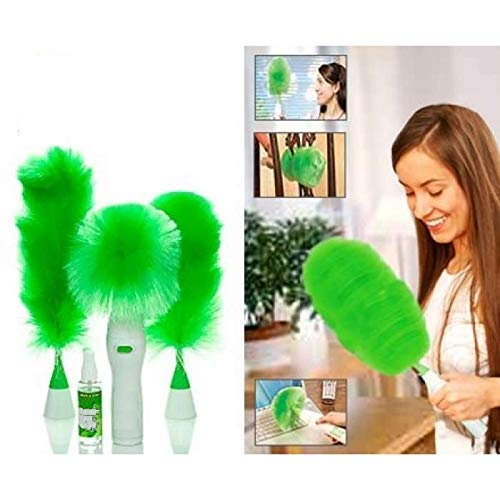 Hand-Held,  Go Dust Electric Feather Spin Motorised Cleaning Brush Set - H01421