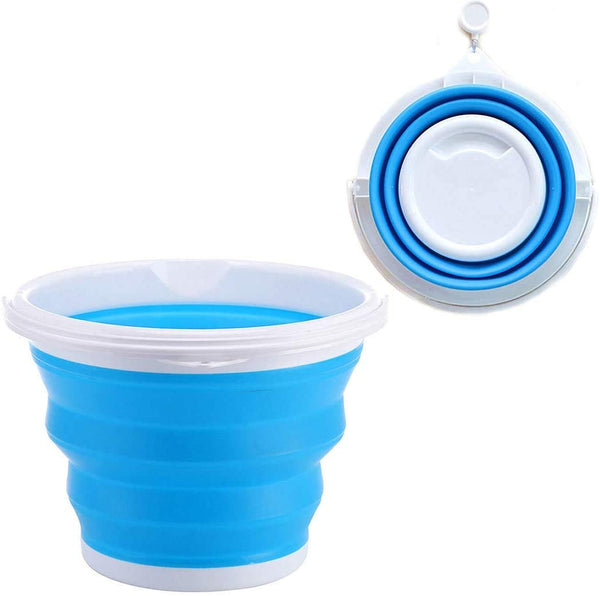Silicone Foldable Cleaning Bucket, Multicolour, 10 L - H01533