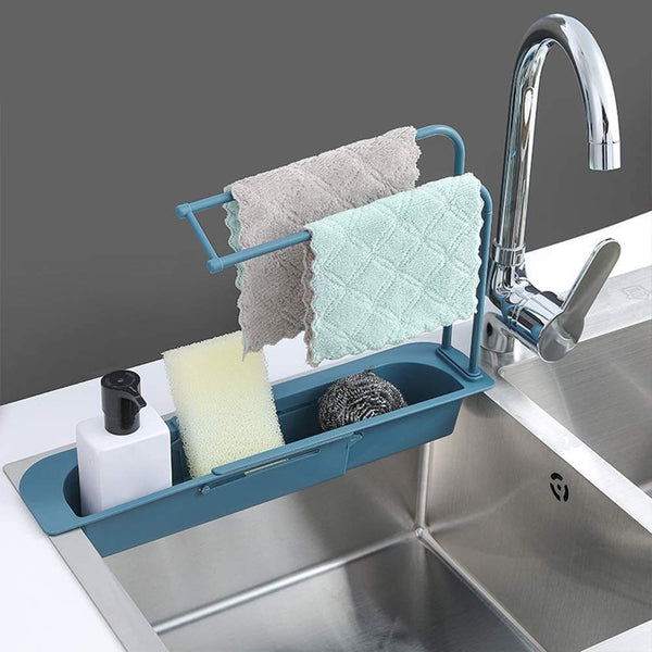 Expandable Storage Drain Basket Rack Sink Holder - H01535