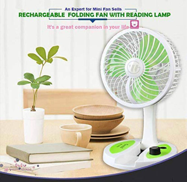 Rechargeable Portable Folding fan with Reading Lamp - H01536