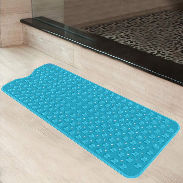 Anti Skid Shower Mat with Suction Cup ( Random Color) - H01540
