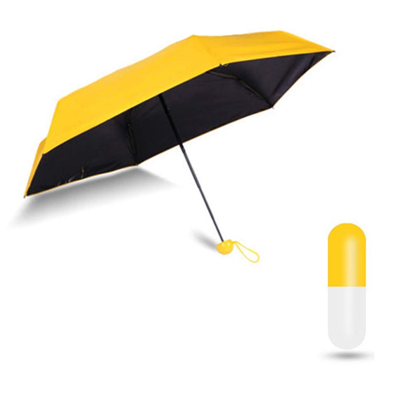 Multi Color Foldable Mini Cute Lights and Small Capsule Umbrella - H01544