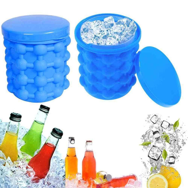 Silicone Ice Cube Maker Bucket for Home, Party and Picnic - H01562