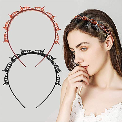 2 Pcs - Double Layer Headband, Alligator Clips - H01564