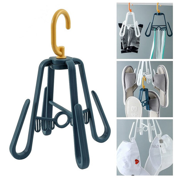Rotating Shoe Drying Hanger (Random Colors) - H01574