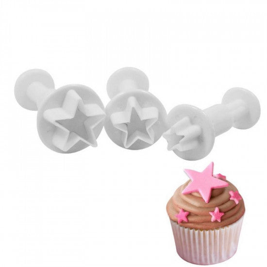 Star Shape Plunger Cutter Set of 3 Pieces - H01672