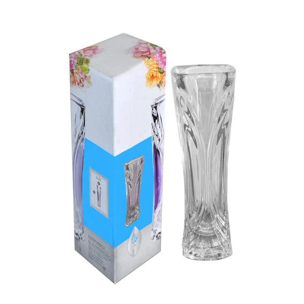 Glass Flower Pot, Crystal Clear Vase for Living - H01714