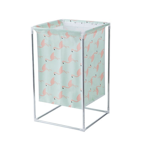 Multifunction Laundry Basket with Metal Stand ( Random Print ) - H01730