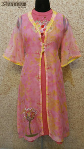 Aavarnam By Renu - Embroidered Shirt With Cape - 2533K00624