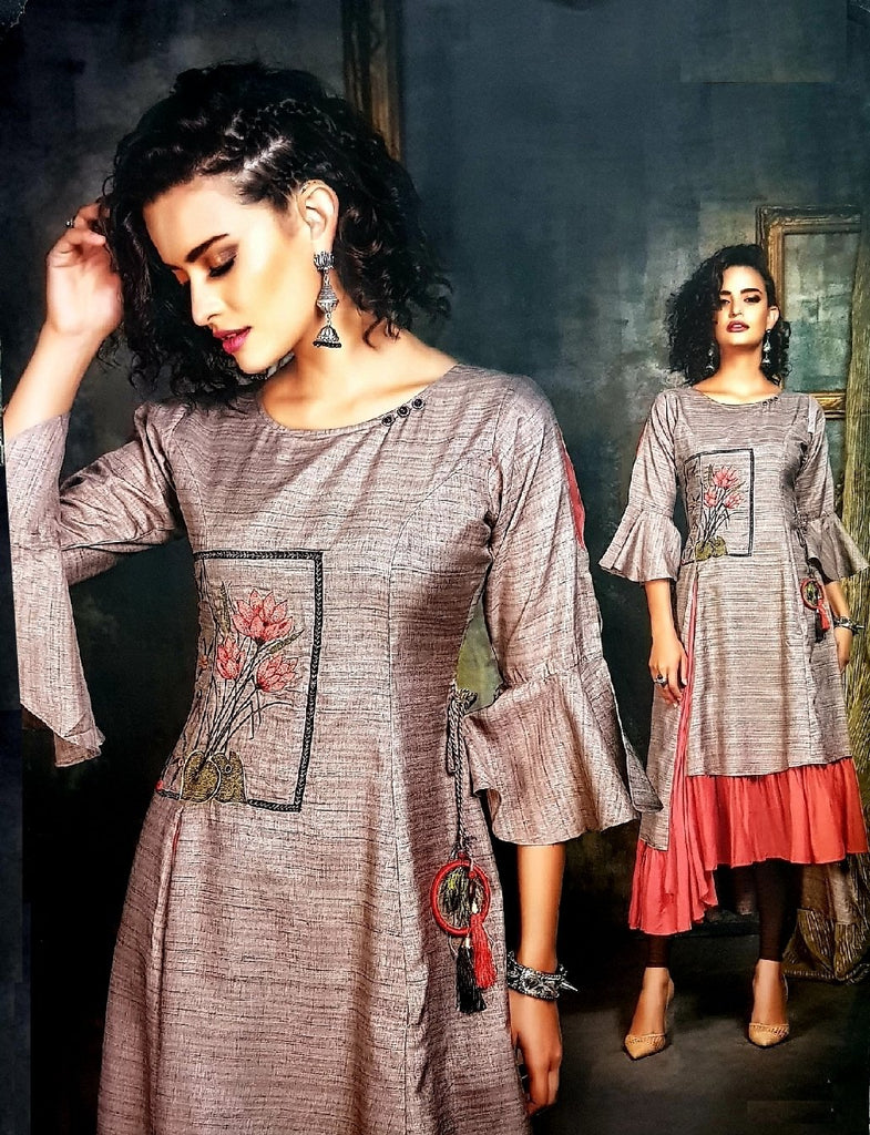 Embroidered Trendy and Stylish Kurti - R00294 - ALL MY WISH