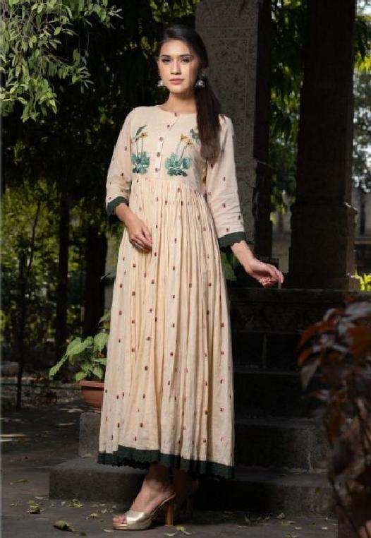 Embroidered Pleated Flared Dress - R00348 - ALL MY WISH