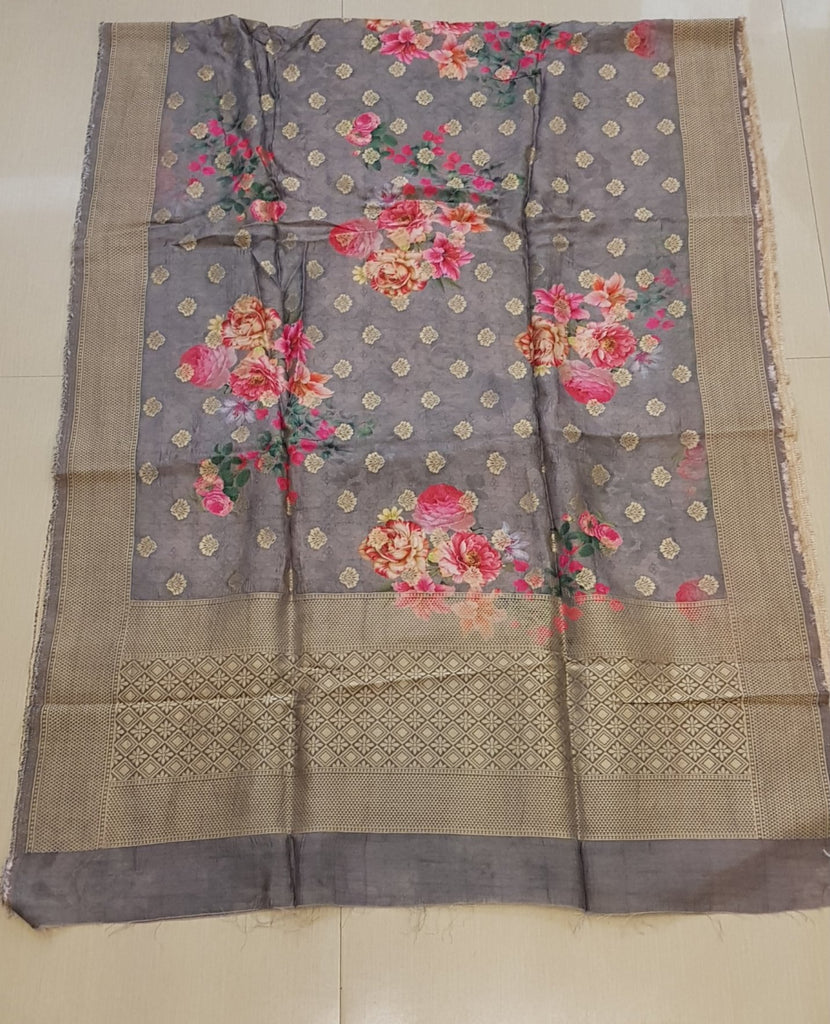 Floral Opara Soft Silk Brocade Banarasi Dupatta - DP00018 - ALL MY WISH