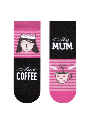 "Conte Kids Socks ""My Mom needs Coffee"""