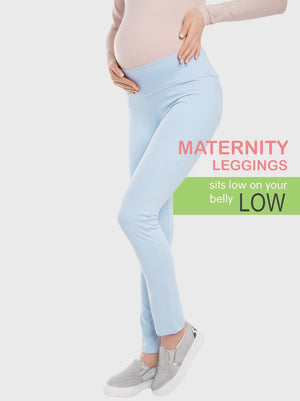 "Conte Elegant Low Rise Maternity Leggings ""Happy Belly"""