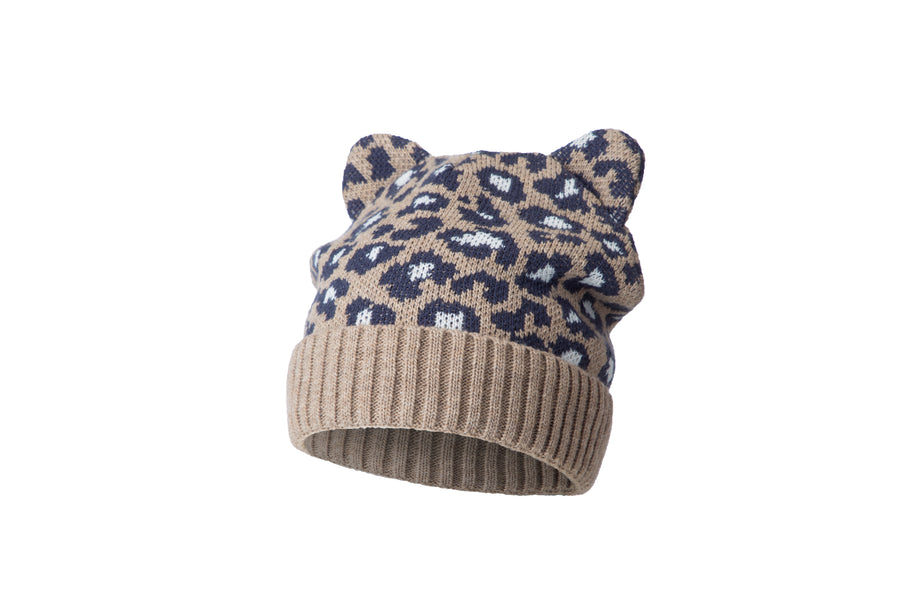Esli Children's little leopard hat