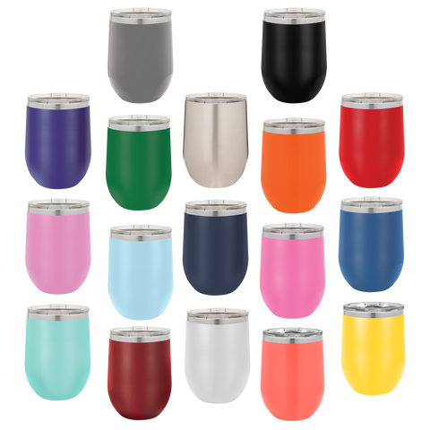 Personalized 12oz Wine Tumblers